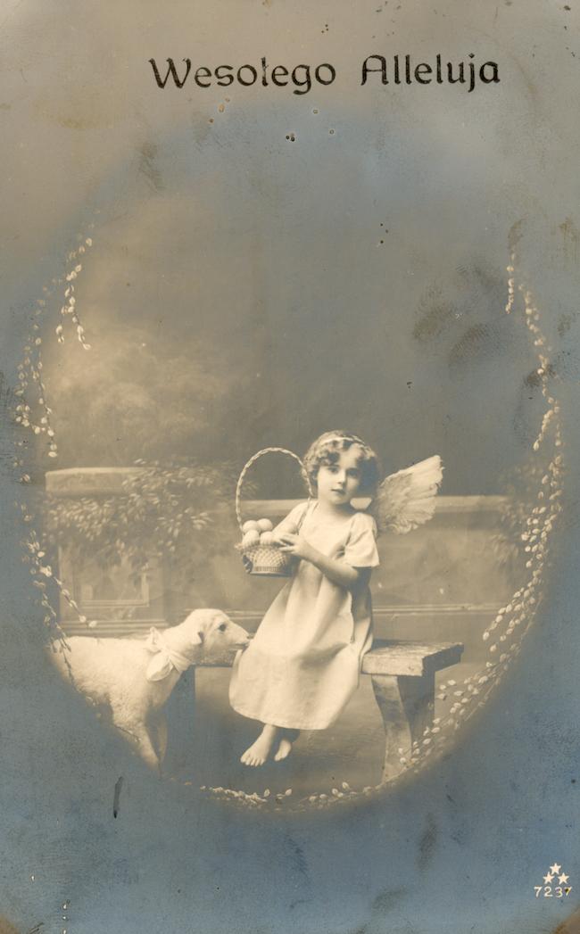 dziecko z barankiem